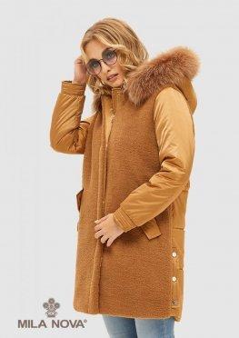 Mila Nova Куртка К-101 кемел