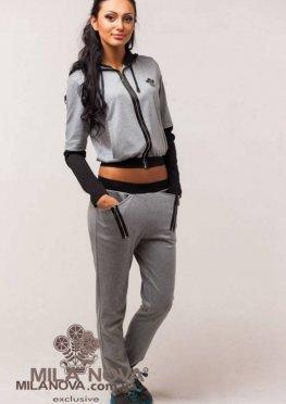 Мила Нова Спортивный костюм М15 Серый