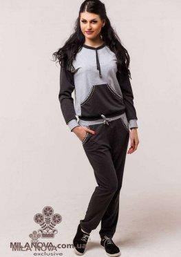 Мила Нова Спортивный костюм М22 Серый