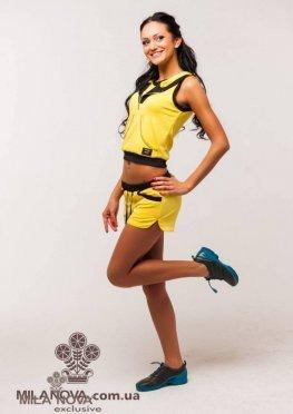 Мила Нова Спортивный костюм М20 Желтый