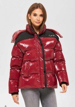 Mila Nova Куртка К-155 бордо+черный