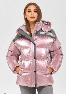 Mila Nova Куртка К-155 розовый+серый