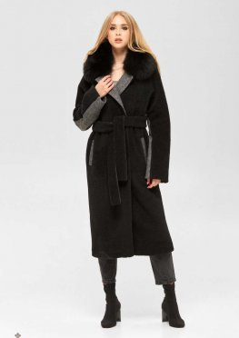 Mila Nova Пальто ПВ-185 м черный