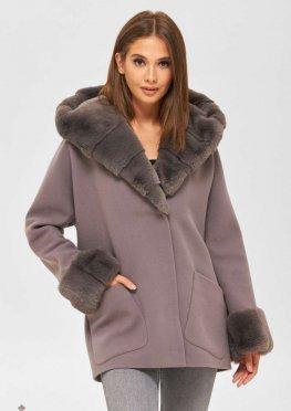 Mila Nova Пальто ПВ-200 серый