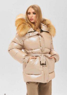 Mila Nova Куртка К-183 бежевый