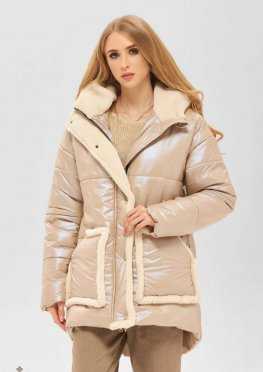 Mila Nova Куртка К-184 бежевый