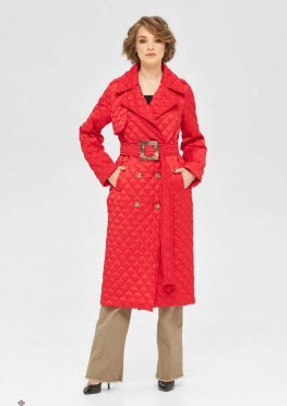 Mila Nova Пальто ПВ-245 красный