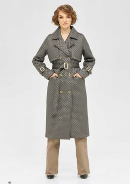 Mila Nova Пальто ПВ-236 серый