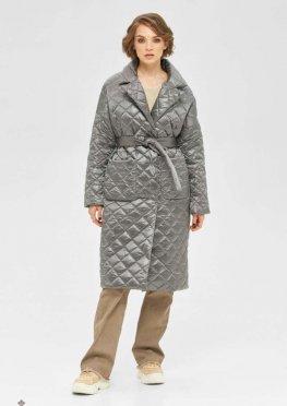 Mila Nova Пальто ПВ-254 серый