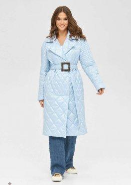 Mila Nova Пальто ПВ-238 голубой