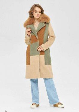 Mila Nova Пальто ПВ-104 бежевый