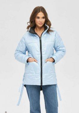 Mila Nova Куртка К-190 голубой+черный