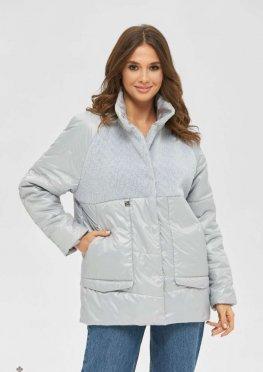 Mila Nova Куртка К-189 светло-серый
