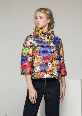 Мила Нова Куртка С-10д Цветы