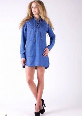 Mila Nova Джинсовая рубашка-платье Ф-4