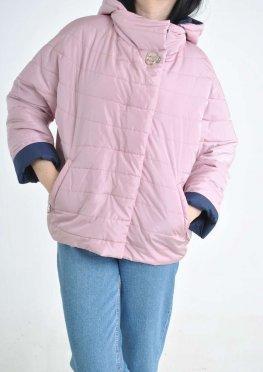 Легкая женкая куртка в цвете пудра в размерах 48-56