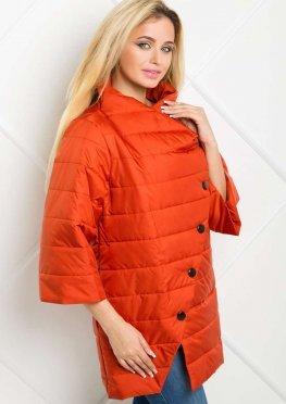 Куртка демисезонная с руковом 3/4 красного цвета
