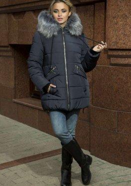 Зимняя женская куртка синего цвета