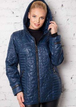 Стильная демисезонная куртка Мишель в синем цвете