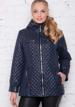 Женская куртка сезона весна-осень синего цвета