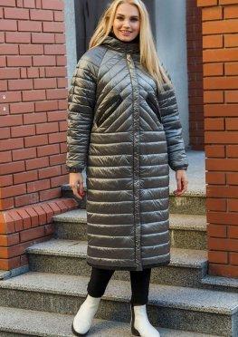 Стеганное женское пальто демисезонное