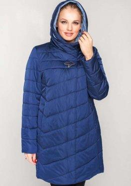 Демисезонная женская куртка синего цвета