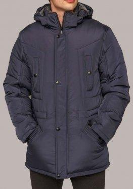 Куртка мужская зимняя КМ-5.2 темно-синего цвета