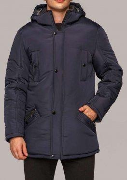 Мужская зимняя куртка КМ-5.3 темно синяя, 50-60 размеры