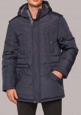 Куртка темно-синяя мужская КМ 7.2 зима, р. 50-60