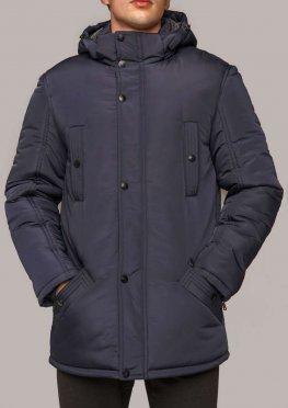 Мужская куртка темно-синяя КМ 7.3 зимняя 50-60