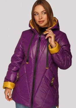 Женская куртка в цвете фуксия, демисезон