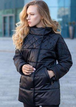 Куртка черная демисезонная женская в размерах 46-54