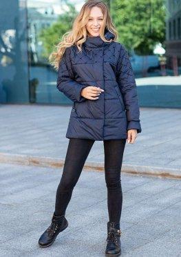 Синяя женская демисезонная куртка  46-54 р