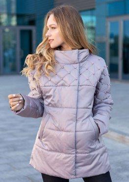 Бежевая демисезонная женская куртка  46-54