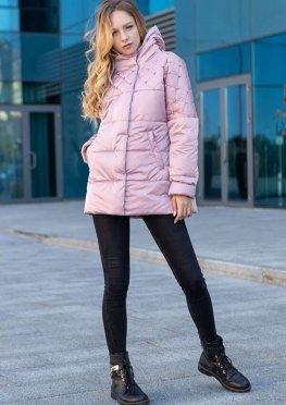 Куртка демисезонная женская цвет пудра, 46-54 р