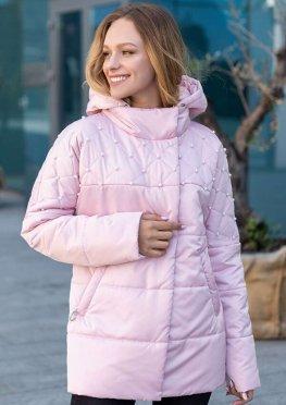 Куртка розовая демисезонная в размерах 46-54