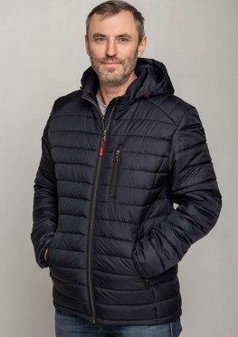 Мужская стильная демисезонная куртка синяя