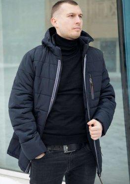 Куртка мужская на весну/осень модель в темно-синем цвете