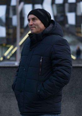 Куртка мужская зимняя в синем цвете