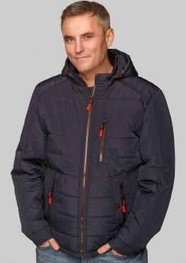 Мужская стильная демисезонная куртка синего цвета