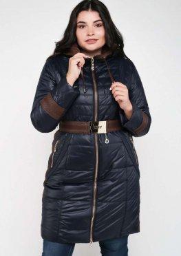 Длинная зимняя женская куртка с капюшоном