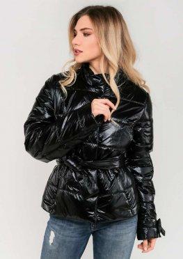 Женская демисезонная куртка цвет черный
