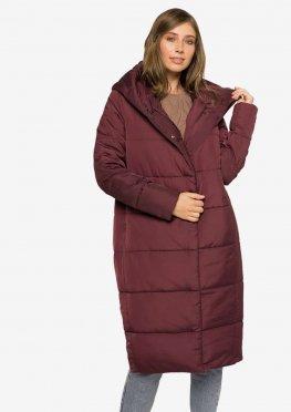 Удлиненная зимняя женская куртка