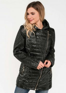 Демисезонная женская куртка черная