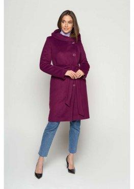 Пальто Варшава, зима, пурпурный