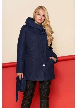 Женское Зимнее Пальто Братислава с капюшоном Шерсть Тёмно-синий