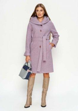 Зимнее пальто Лора, цвет сирень
