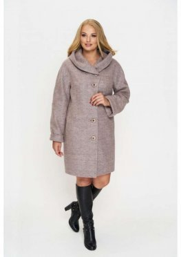 Пальто Марго, зима, шерсть, розовый