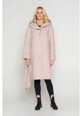 Женское Зимнее Пальто Лора с капюшоном Шерсть Бежевый 800