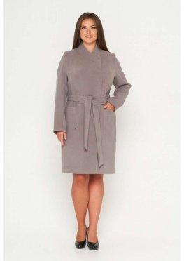 Пальто Венеция, кашемир, серый меланж